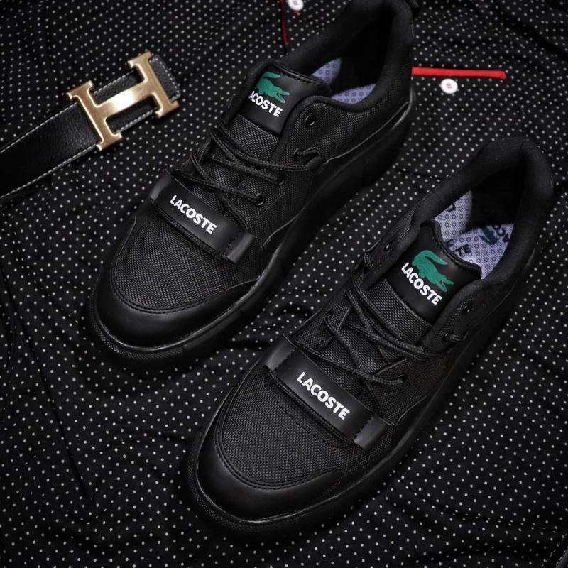 Мужские кроссовки lacoste black - Фото 4
