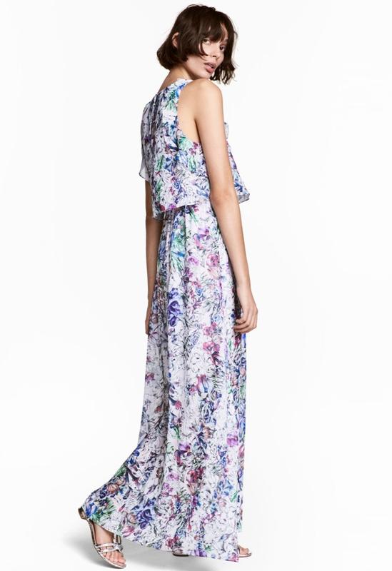 Цветочное макси платье h&m