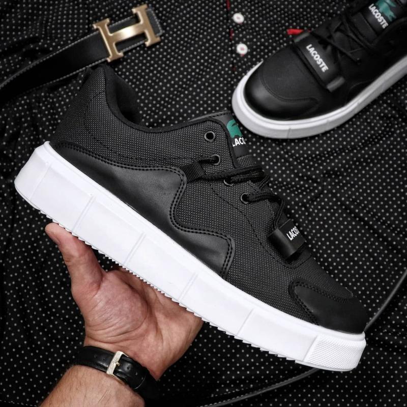 Мужские кроссовки lacoste black white