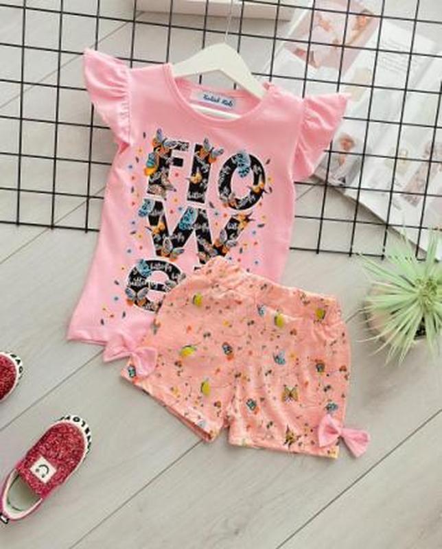 ✨ летний костюмчик для девочки (футболка+шорты)