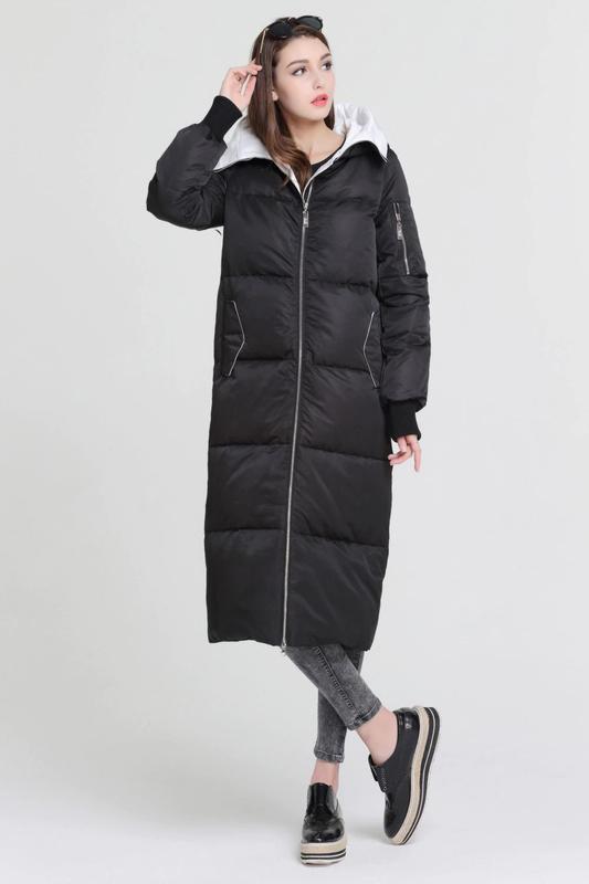 L / 46-48 длинный зимний стильный пуховик кокон одеялко  basic...