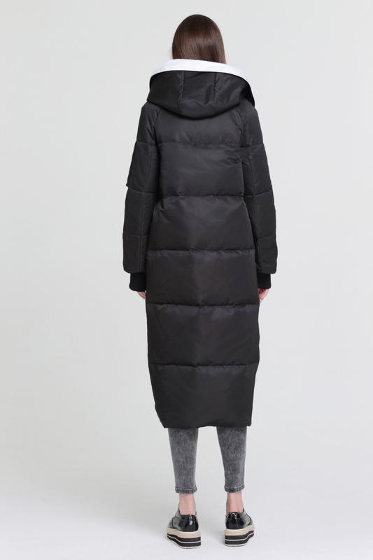 L / 46-48 длинный зимний стильный пуховик кокон одеялко  basic... - Фото 3