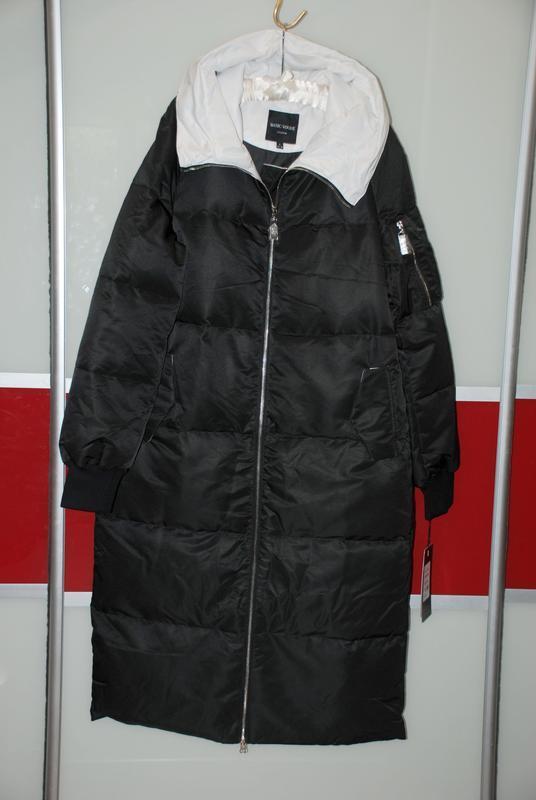 L / 46-48 длинный зимний стильный пуховик кокон одеялко  basic... - Фото 4