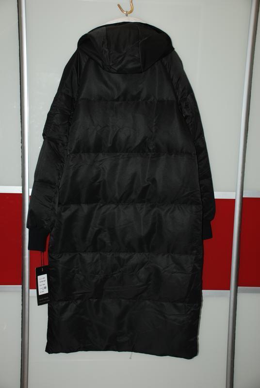 L / 46-48 длинный зимний стильный пуховик кокон одеялко  basic... - Фото 6