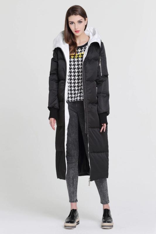 L / 46-48 длинный зимний стильный пуховик кокон одеялко  basic... - Фото 8
