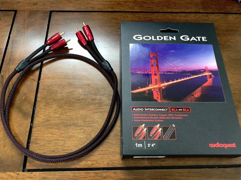 Межкомпонентный аудиокабель AudioQuest Golden Gate RCA-RCA, 1...