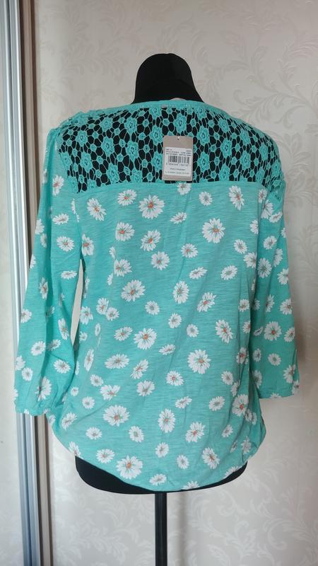 Кофта трикотажная футболка с длинным рукавом и кружево