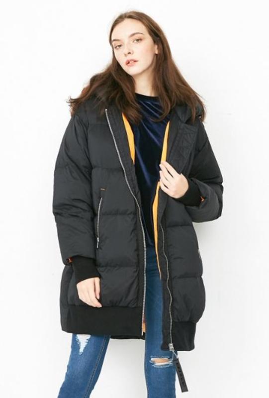 Моднявый бомбический зимний теплый пуховик куртка оверсайз only