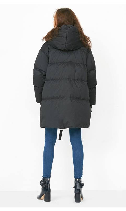 Моднявый бомбический зимний теплый пуховик куртка оверсайз only - Фото 2