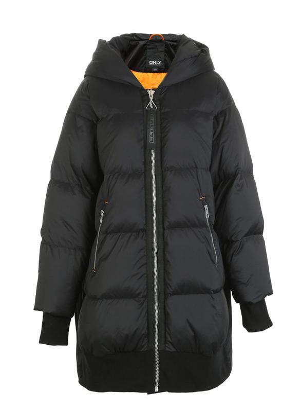 Моднявый бомбический зимний теплый пуховик куртка оверсайз only - Фото 3
