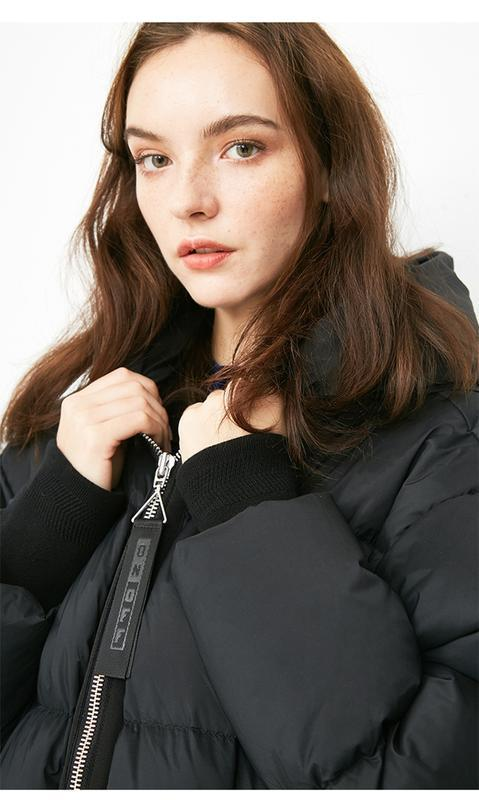Моднявый бомбический зимний теплый пуховик куртка оверсайз only - Фото 5