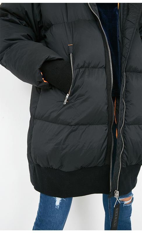 Моднявый бомбический зимний теплый пуховик куртка оверсайз only - Фото 6