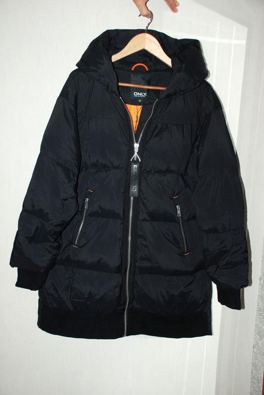 Моднявый бомбический зимний теплый пуховик куртка оверсайз only - Фото 7