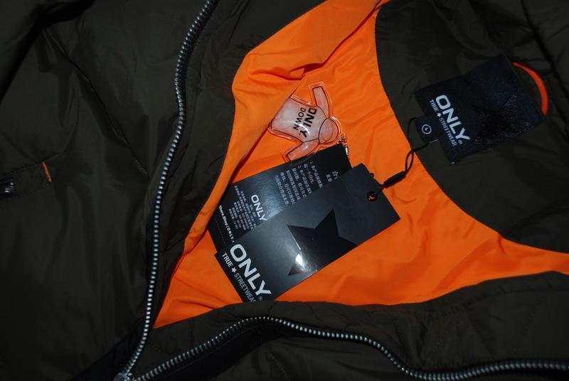 Моднявый бомбический зимний теплый пуховик куртка оверсайз only - Фото 10