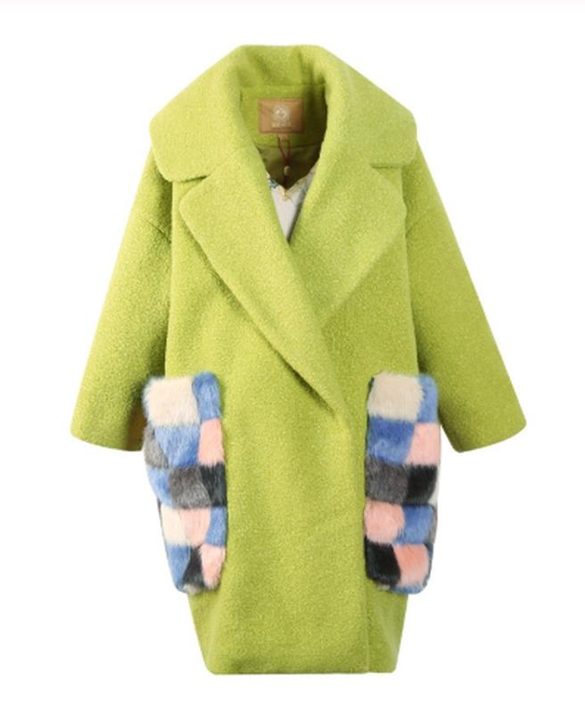L ( 46-48) неординарное  яркое эффектное теплое пальто с мехов...
