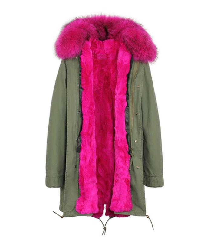 Зимняя парка / куртка натуральный мех енота /подстежка натурал... - Фото 3