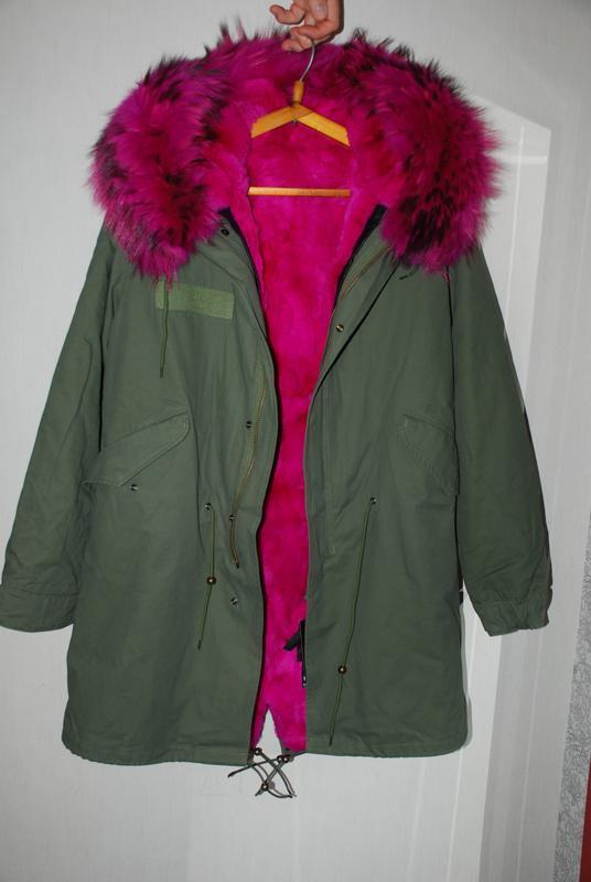 Зимняя парка / куртка натуральный мех енота /подстежка натурал... - Фото 4