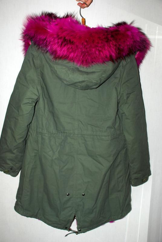 Зимняя парка / куртка натуральный мех енота /подстежка натурал... - Фото 6