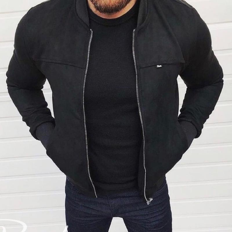 Куртка мужская замш - Фото 2