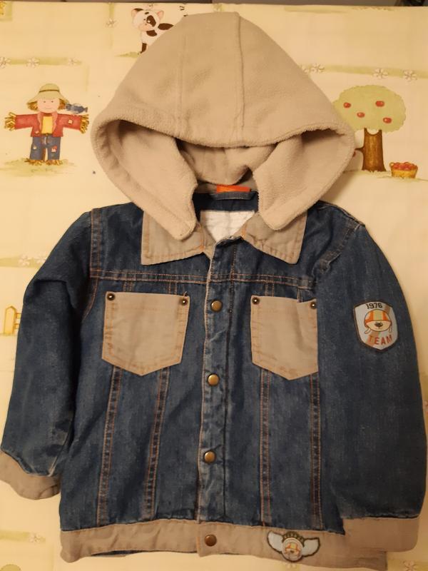 Демисезонная джинсовая куртка для мальчика 3 лет.