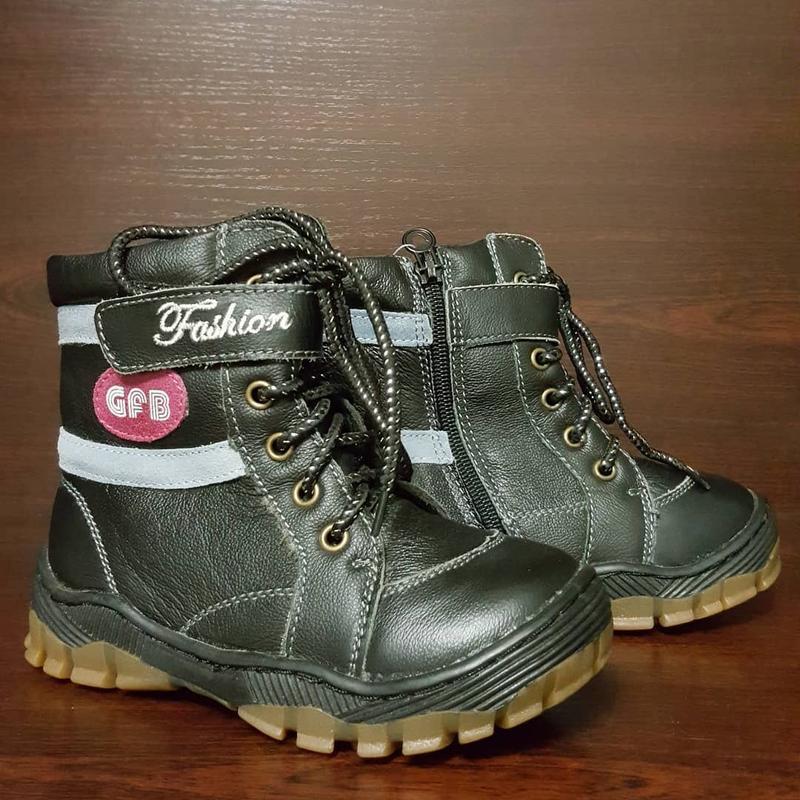 Кожаные ботинки на шнурках, gfb