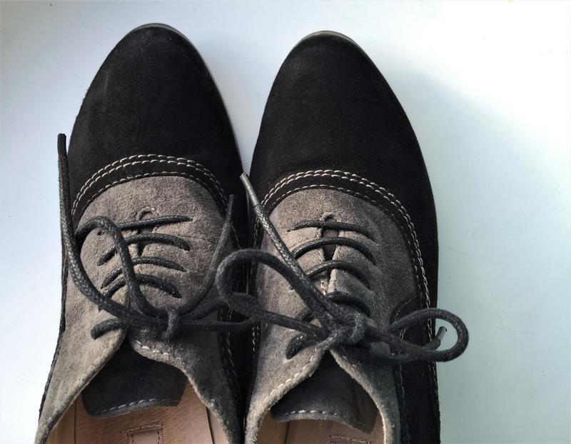 Кожаные туфли ботильоны respect, ботинки на каблуке замшевые - Фото 8