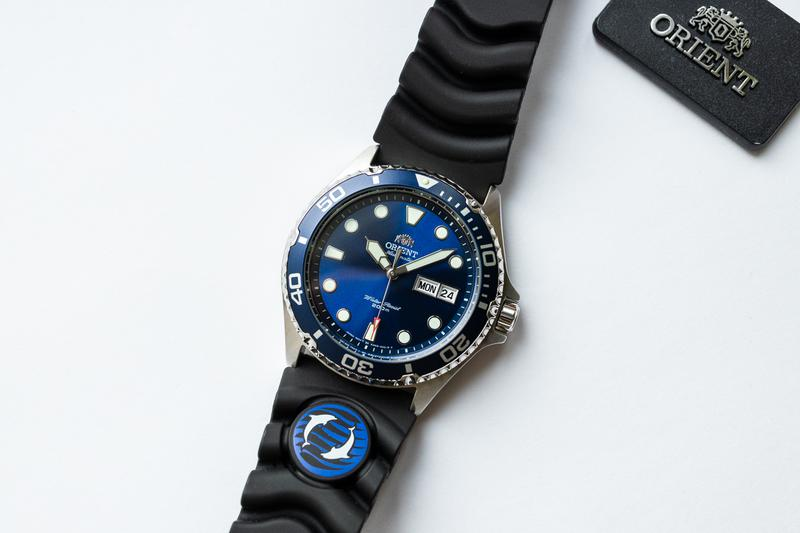 Часы наручные дайвер Orient Ray II Blue - оригинал с документами - Фото 2