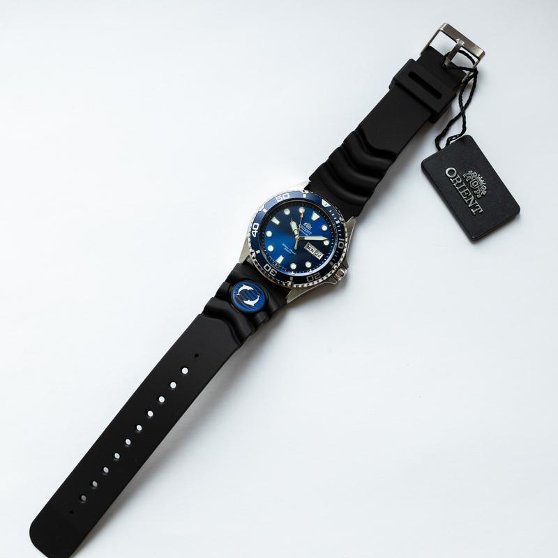 Часы наручные дайвер Orient Ray II Blue - оригинал с документами - Фото 5