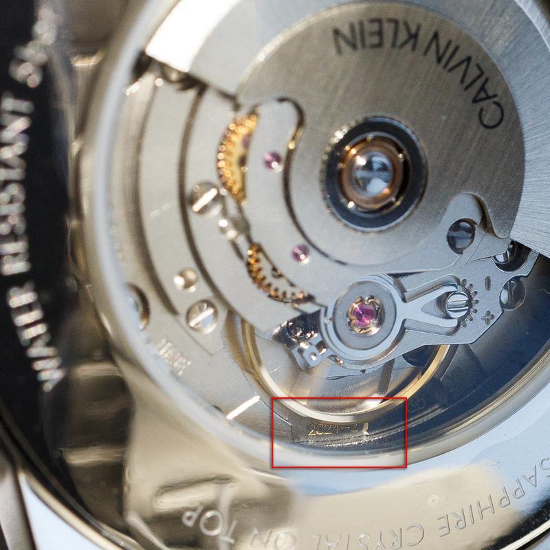 Часы мужские Calvin Klein - Swiss Made механика, ЕТА 2824-2 - Фото 4