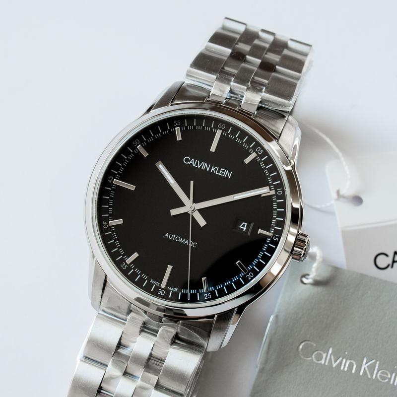 Часы мужские Calvin Klein - Swiss Made механика, ЕТА 2824-2 - Фото 2
