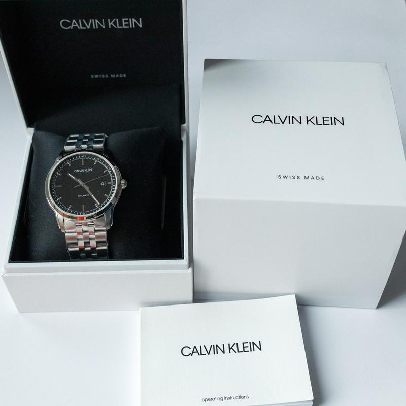 Часы мужские Calvin Klein - Swiss Made механика, ЕТА 2824-2 - Фото 5