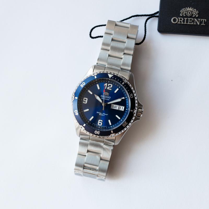 Часы дайвер Orient Mako II Blue, оригинал с документами, новые