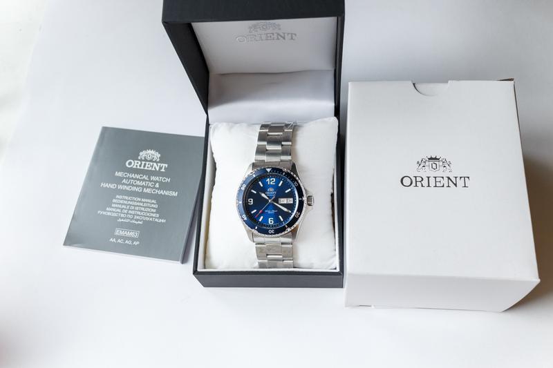 Часы дайвер Orient Mako II Blue, оригинал с документами, новые - Фото 4