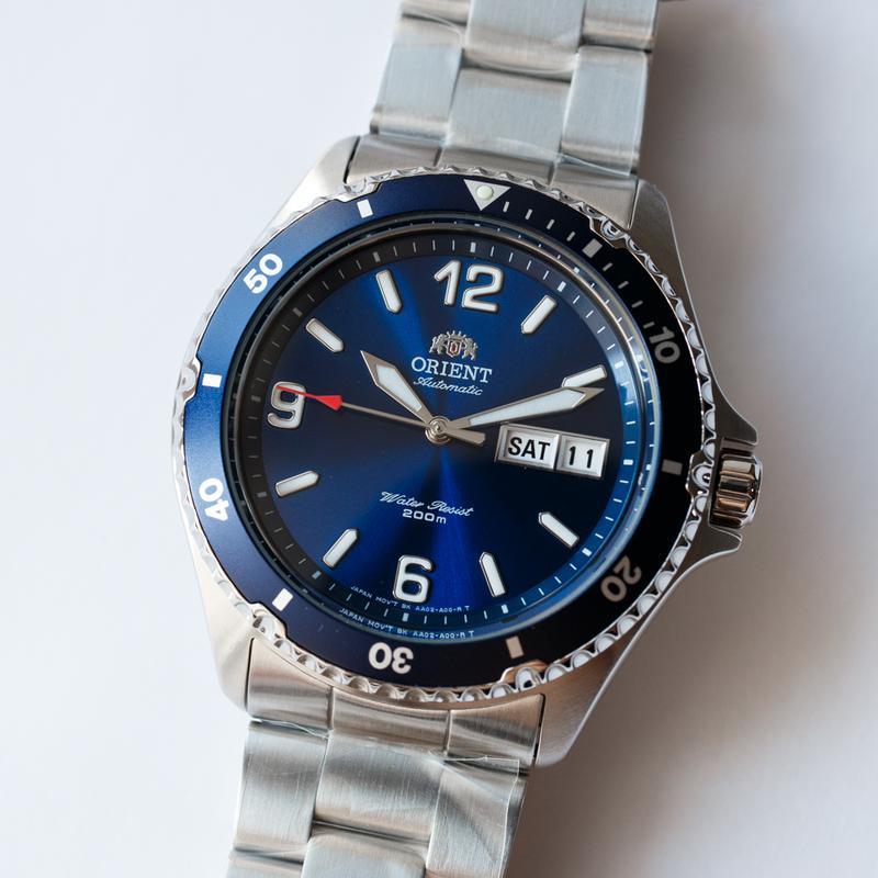 Часы дайвер Orient Mako II Blue, оригинал с документами, новые - Фото 2
