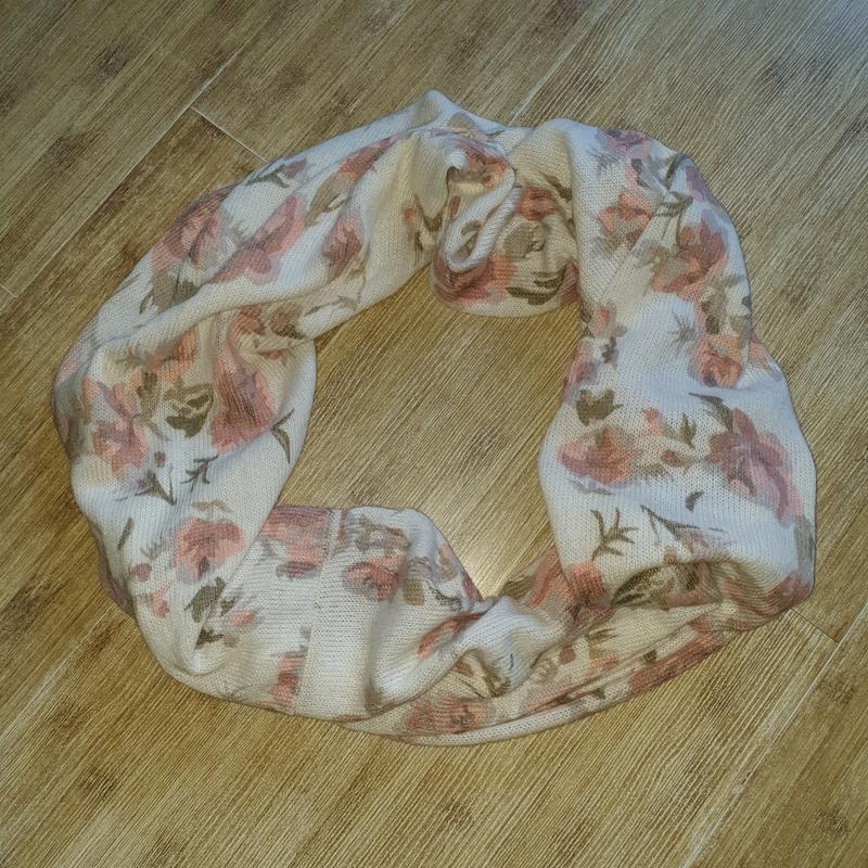 Тёплый снуд, шарф с цветами, h&m