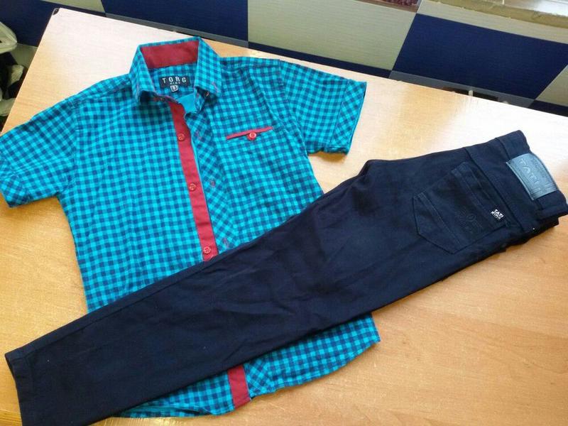 Рубашка и брюки в школу как новое на 116-134р можно и по отдельно