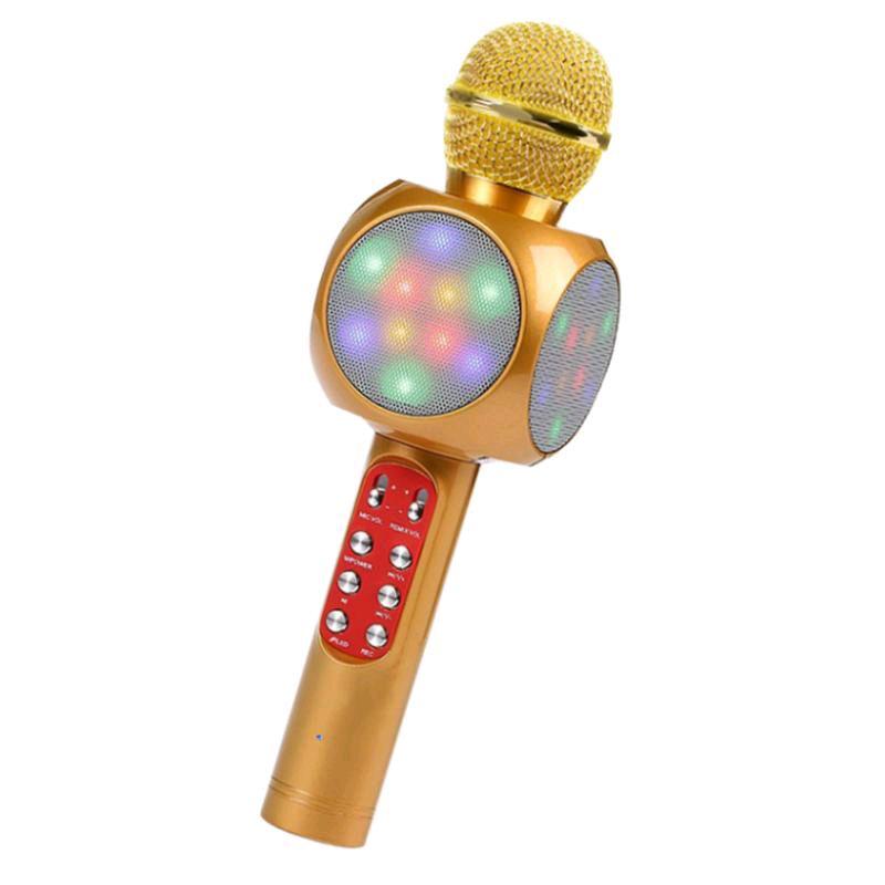 Микрофон с функцией караоке  WS-1816 Жёлтые!