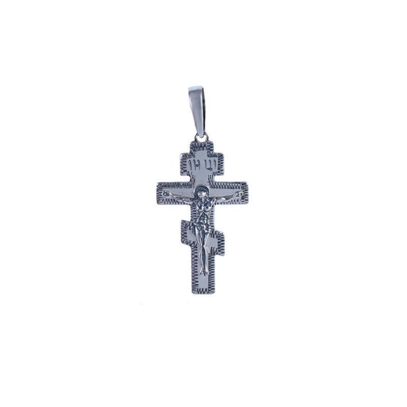 Крест-подвес с чернением из серебра