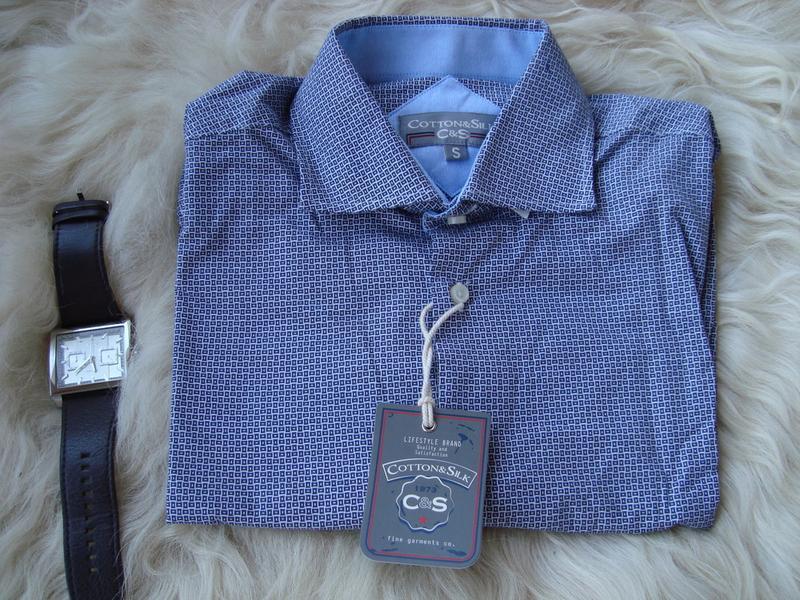 Рубашка мужская, c&s, италия, закупка 26€