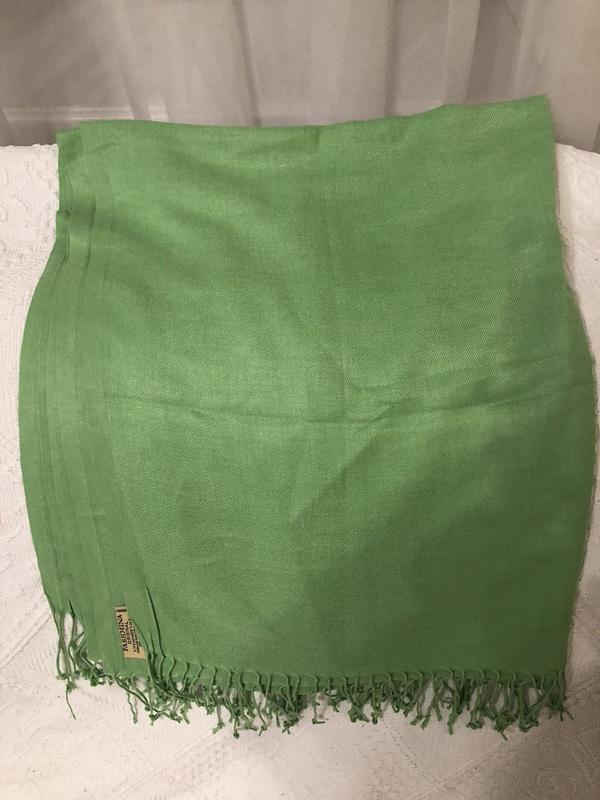 Зеленый шарф пашмина, новый!