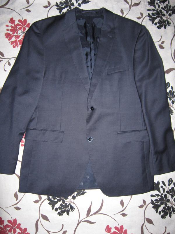 Отличный темно-синий однобортный мужской пиджак roy robson