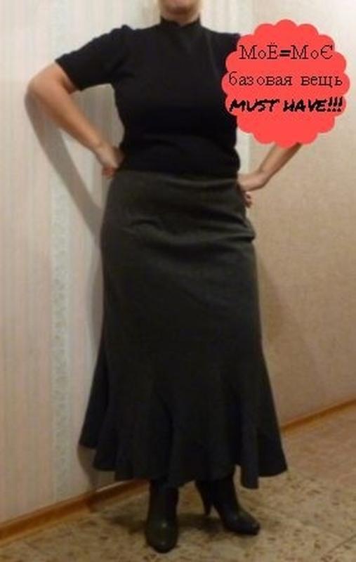 Натуральная шерстяная теплая юбка сс хороший большой размер в ...