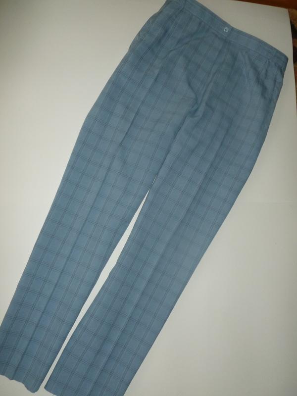 Супер тренд актуальные брюки клетка большой хороший размер m&s...