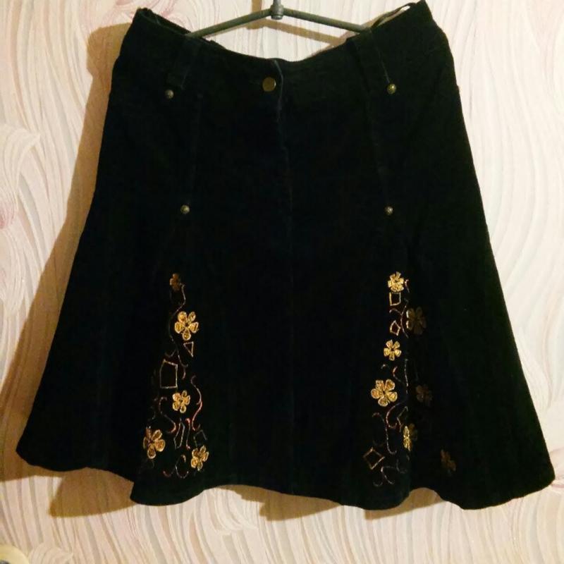 Вельветовая юбка (теплая)