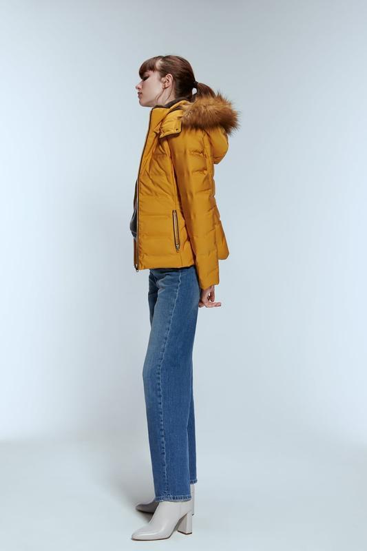 Zara куртка зимний пуховик