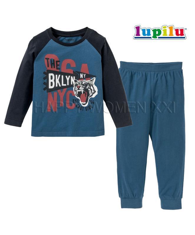 Пижама для мальчика 1~2 года lupilu удобная домашняя одежда