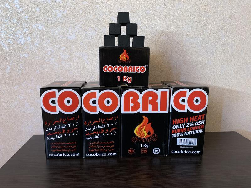 Кокосовый уголь для кальяна Cocobrico.