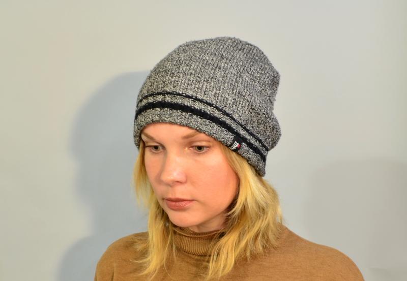 4023\20 серая меланжевая шапка thinsulate