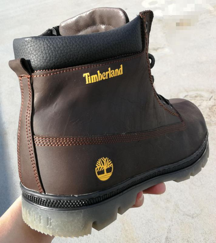 Натуральная кожа большие размеры зимние ботинки timberland гиг...