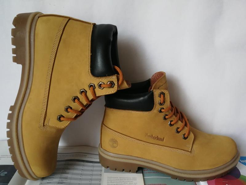 Натуральная кожа зимние мужские ботинки тимберленд натуральный... - Фото 3